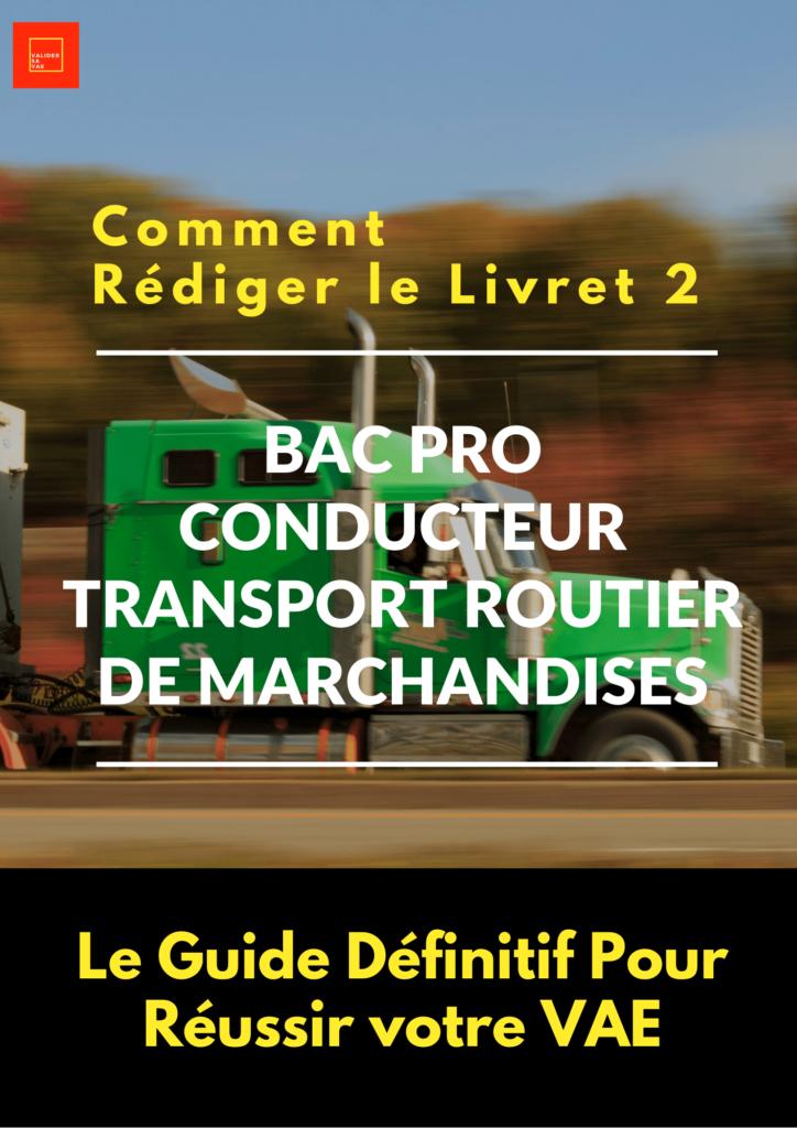 conducteur transport routier marchandises Livret 2 VAE