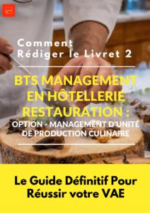 Livret 2 bts mhr management unite production culinaire