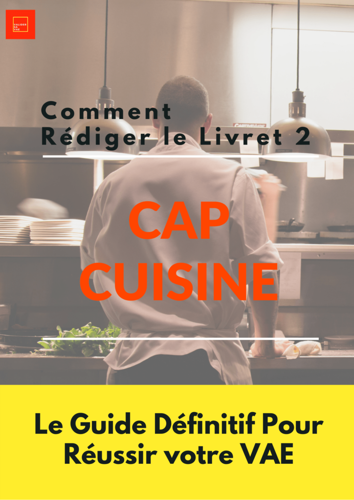 VAE Livret 2 CAP Cuisine